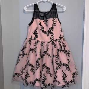 Beautiful pink and black children's place dress